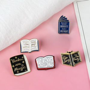 Books Turn Muggles Into Wizards Enamel Pin