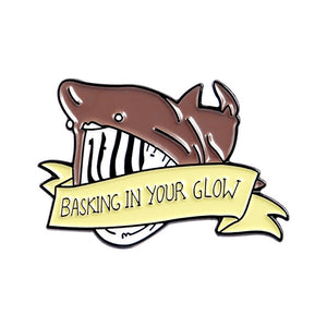 Basking Shark Enamel Pin