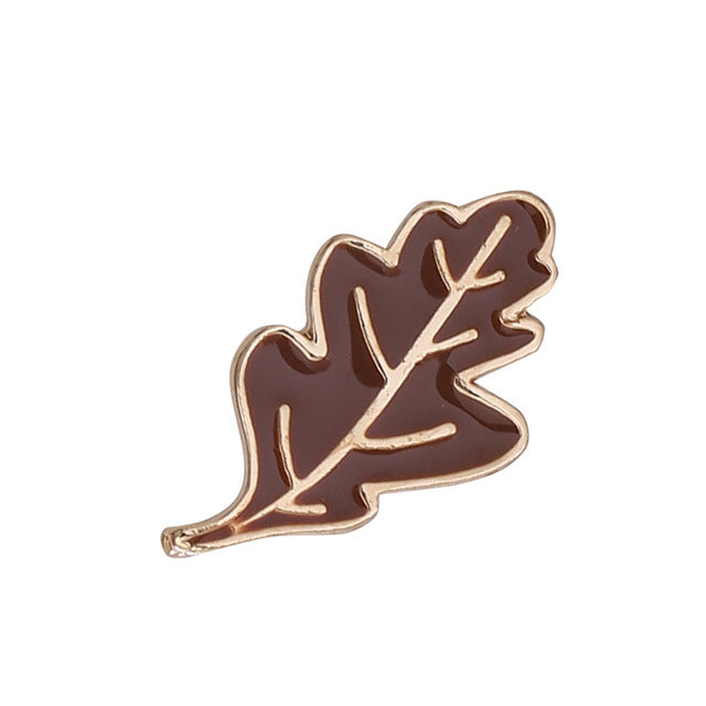 Oak Leaf Enamel Pin