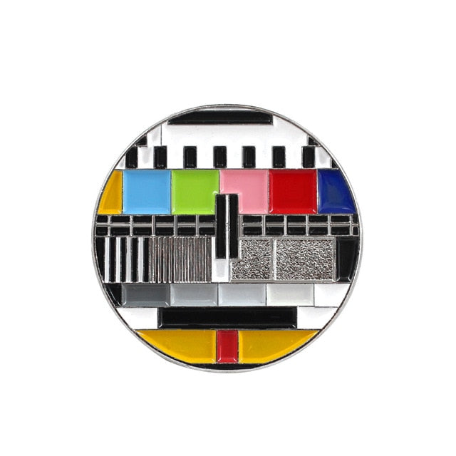 No TV Signal Enamel Pin