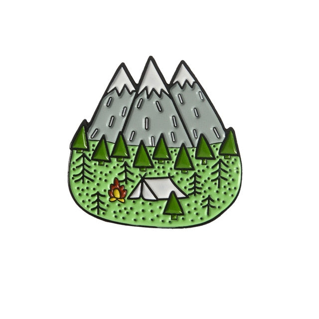 Mountain Starry Night Enamel Pin