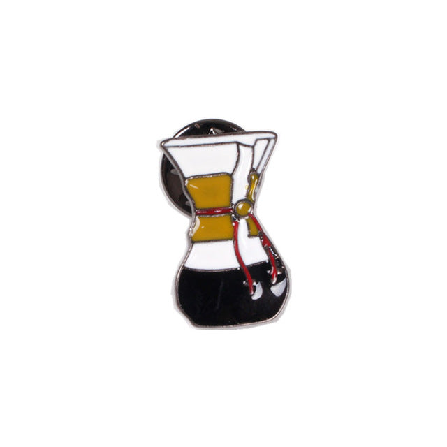 Pour Over Coffee Enamel Pin
