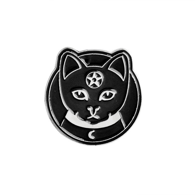 Witches Cat Enamel Pin
