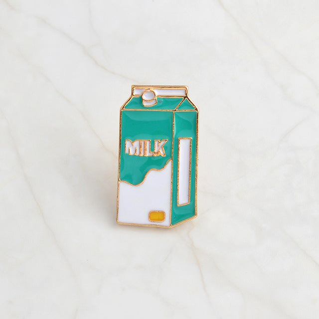 Milk Carton Enamel Pin