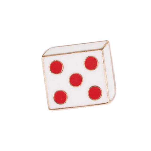 Throw-5 Dice Enamel Pin