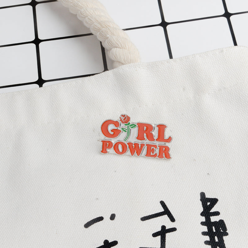 Girl Power Rose Enamel Pin