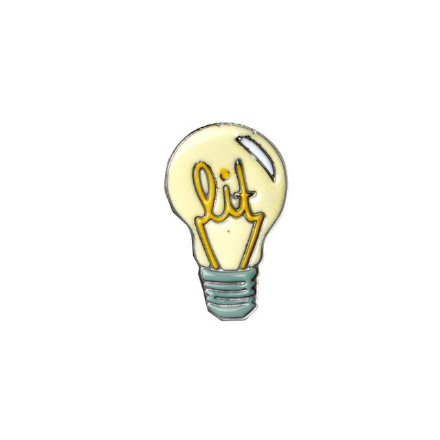 Lit Lightbulb Enamel Pin