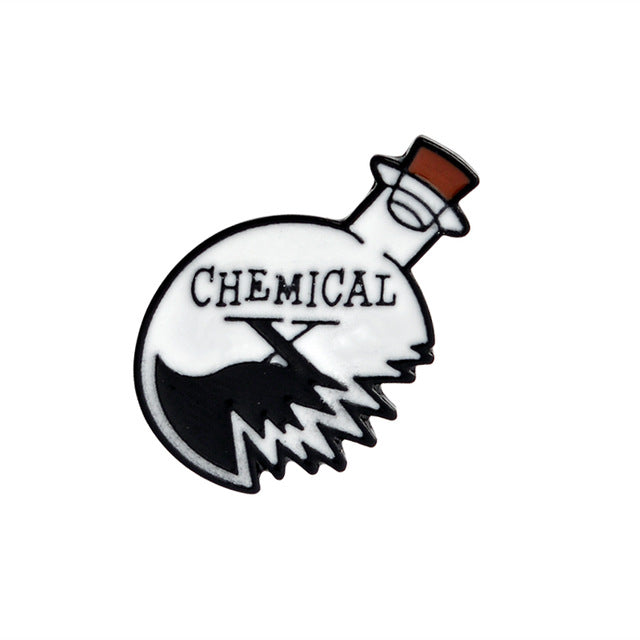 Chemical X Science Enamel Pin
