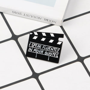 Movie Quotes Clapboard Enamel Pin