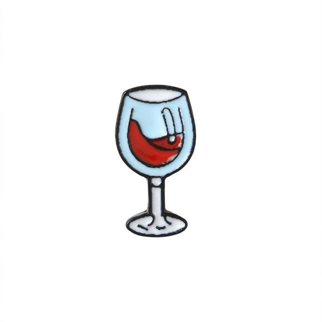 Wine Glass Enamel Pin