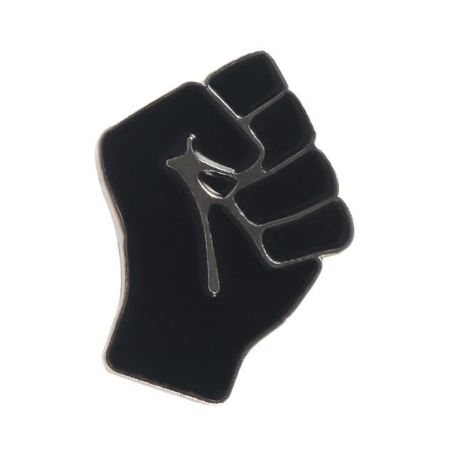 Black Lives Matter Raised Fist of Solidarity Enamel Pin