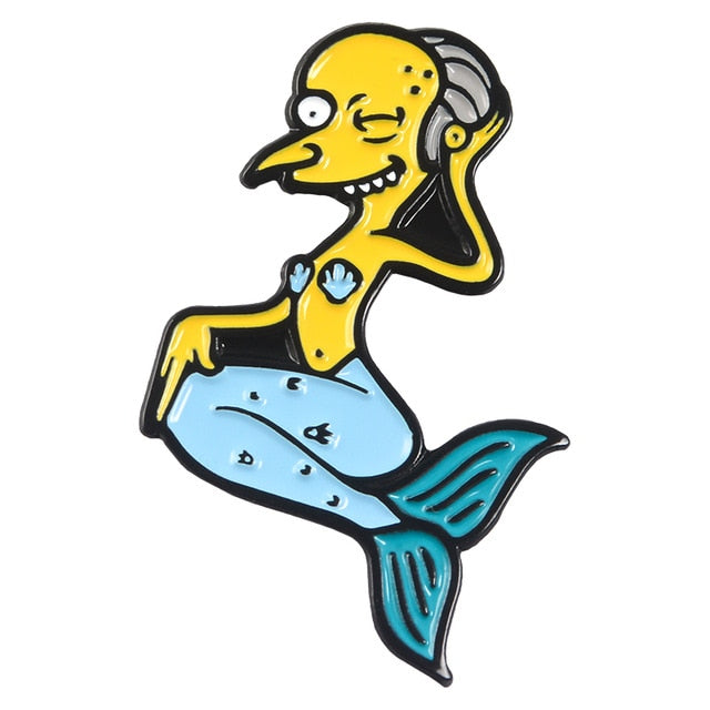 Merman Mr Burns Enamel Pins