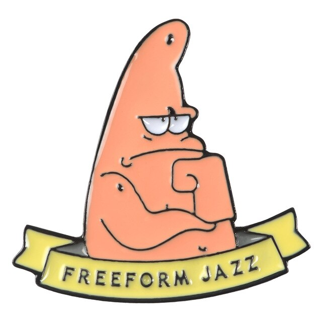 Freeform Jazz Enamel Pin