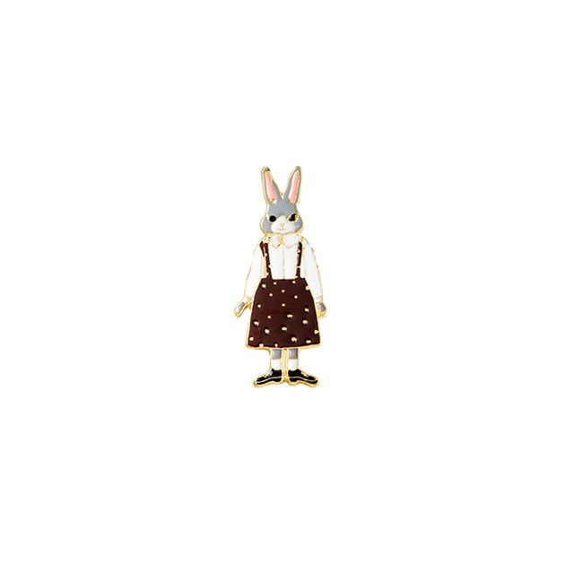 Rabbit Lady Enamel Pin