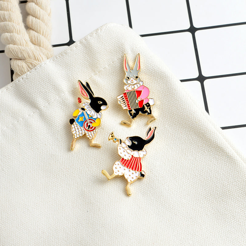 Banjo Rabbit Enamel Pin