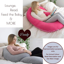 Load image into Gallery viewer, Red-Coozly C Premium LYTE Pregnancy Body Pillow