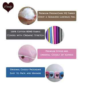 Fuschia Pink - Coozly Basic Body Contour Pregnancy Pillow