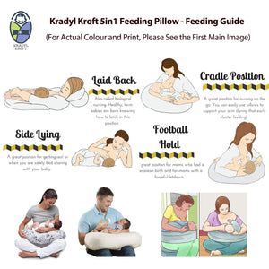 Cyan Star-Krady Kroft 5in1 Feeding Pillow