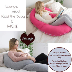 Navy-Coozly C Premium LYTE Pregnancy Body Pillow