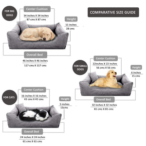 Grey - Pet Royale Big Dog Bed