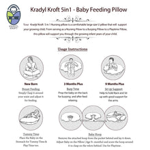 Load image into Gallery viewer, Ezmerald-Krady Kroft 5in1 Feeding Pillow