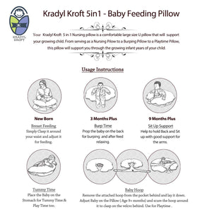 Little Engineer-Krady Kroft 5in1 Feeding Pillow