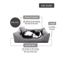 Load image into Gallery viewer, Grey - Pet Royale Velvet Cat Bed