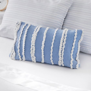 Coozly Special Edition Pillows - Powder Blue Ruffled - 1pc