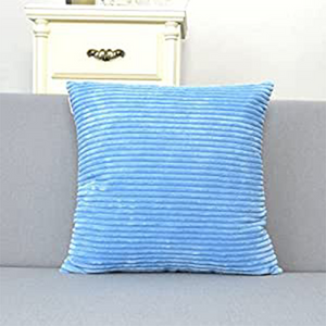 Coozly Special Edition Pillows - Powder Blue Striped Velvet - 1pc