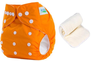 Baby Washable Reusable Adjustable Titch Button Cloth Diaper With 3 layered Microfiber Insert