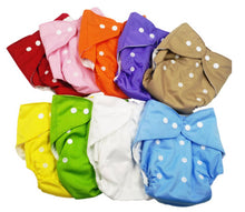Load image into Gallery viewer, Baby Washable Reusable Adjustable Titch Button Cloth Diaper With 3 layered Microfiber Insert