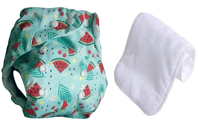 Premium Quality Washable Reusable Adjustable Cloth Diaper With microfiber Insert