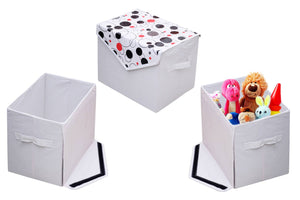 Printed Laminated Non Wooven Toy Box Or Multipurpose Storage Box