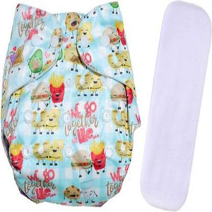 Enjoy Life Adjustable Fancy Print Reusable Cloth Diaper For Babies (3-36 Months)