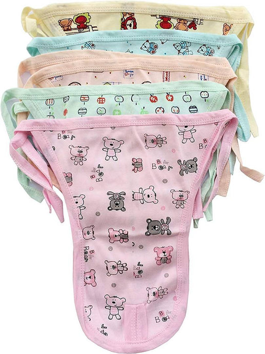 Washable Cotton Cloth Nappies/Diapers/Langot For 0-3 Months New Born Baby (Pack Of 10)