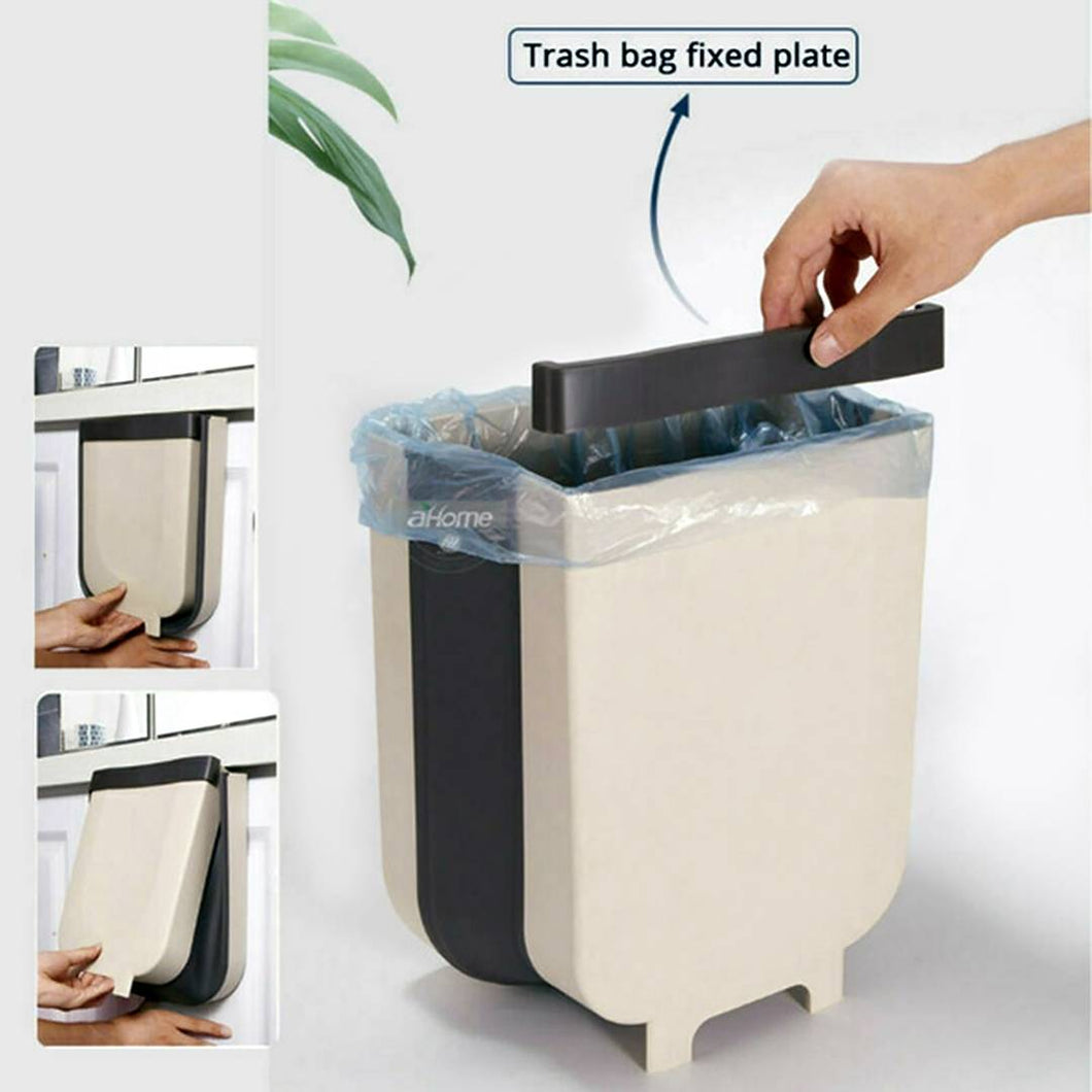 Useful Beige Plastic Hanging Trash Can