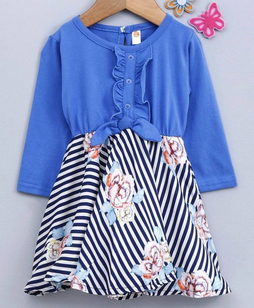 Girl's Printed Multicoloured Cotton Frocks