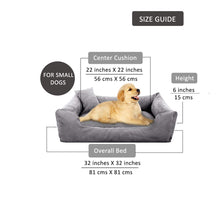 Load image into Gallery viewer, GreyBlue - Pet Royale Small Dog Bed