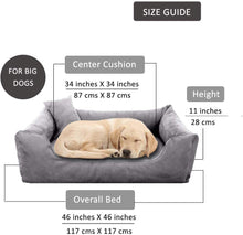 Load image into Gallery viewer, GreyBlue - Pet Royale Big Dog Bed