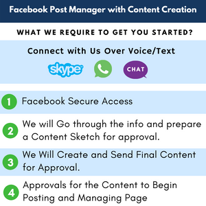 GET a Facebook/ Instagram Post Manager with Content Creation