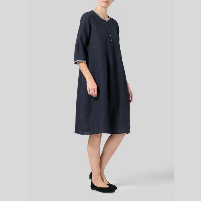Round Neck Sailor Shirt Style Dress