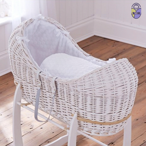 Kradyl Kroft Moses Basket - White