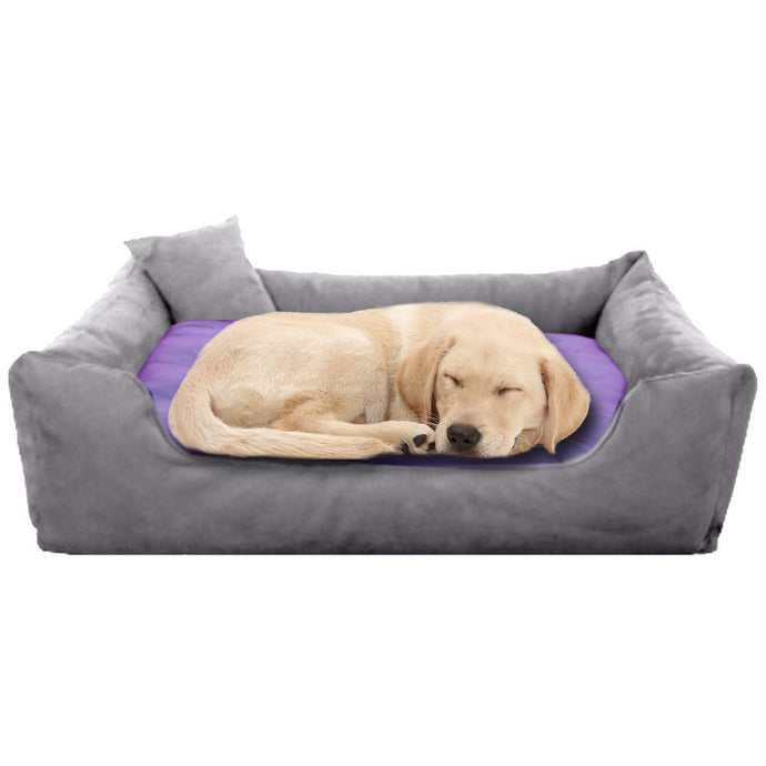 GreyPurple - Pet Royale Big Dog Bed