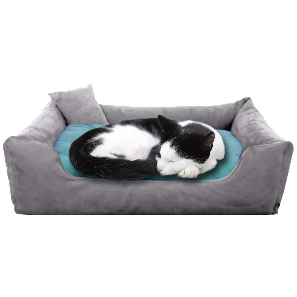 Grey Blue - Pet Royale Velvet Cat Bed