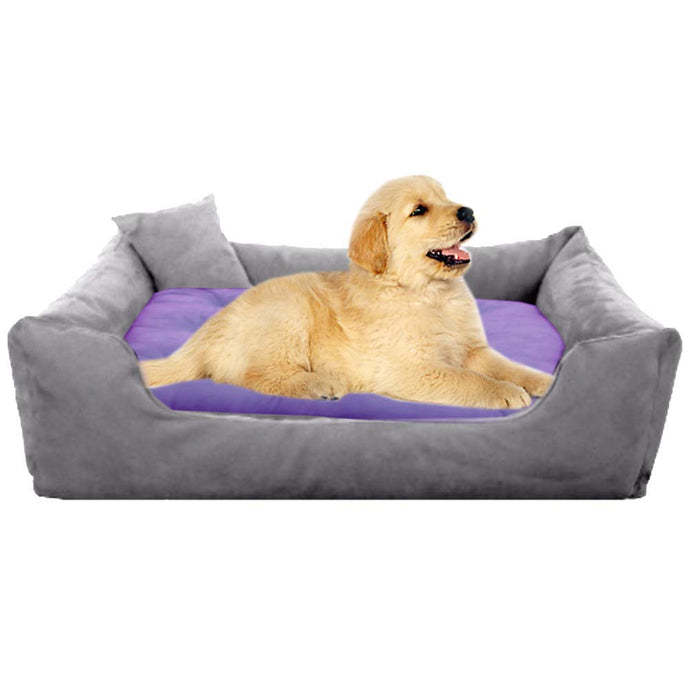 GreyPurple - Pet Royale Small Dog Bed