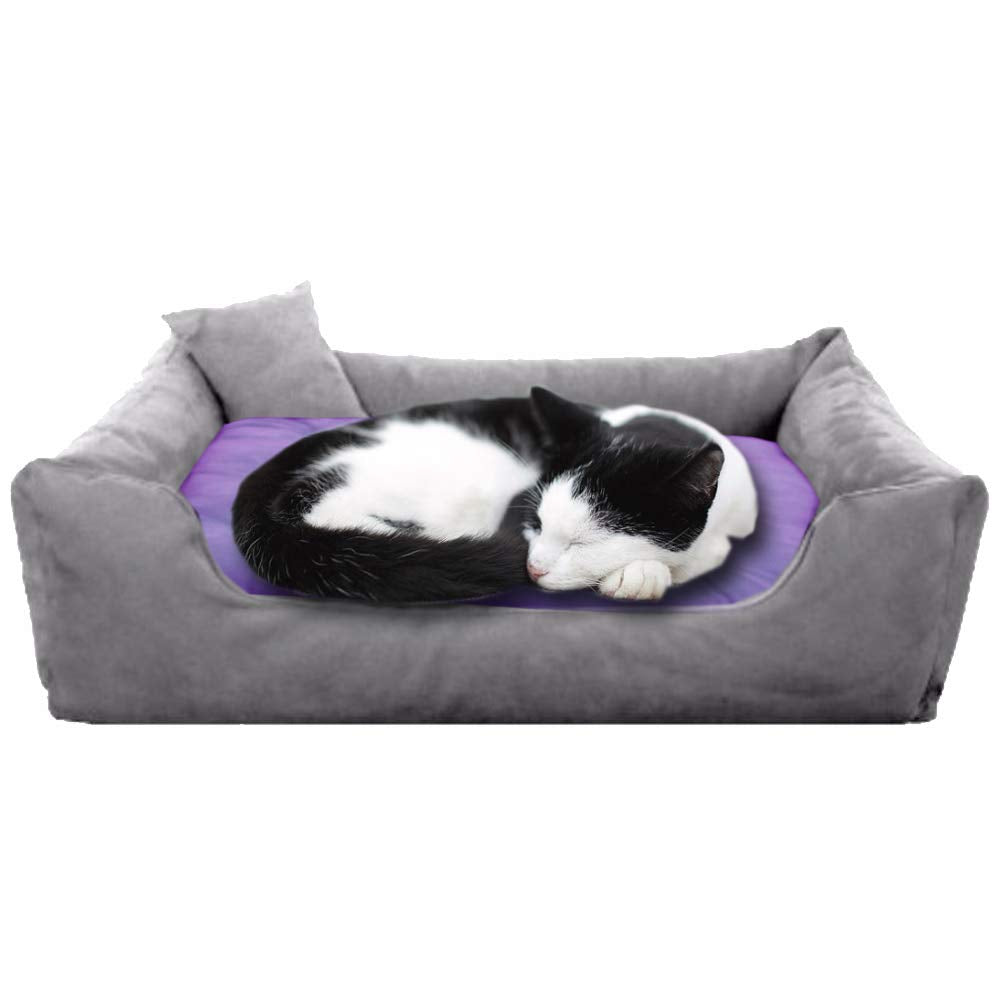 Grey Purple - Pet Royale Velvet Cat Bed