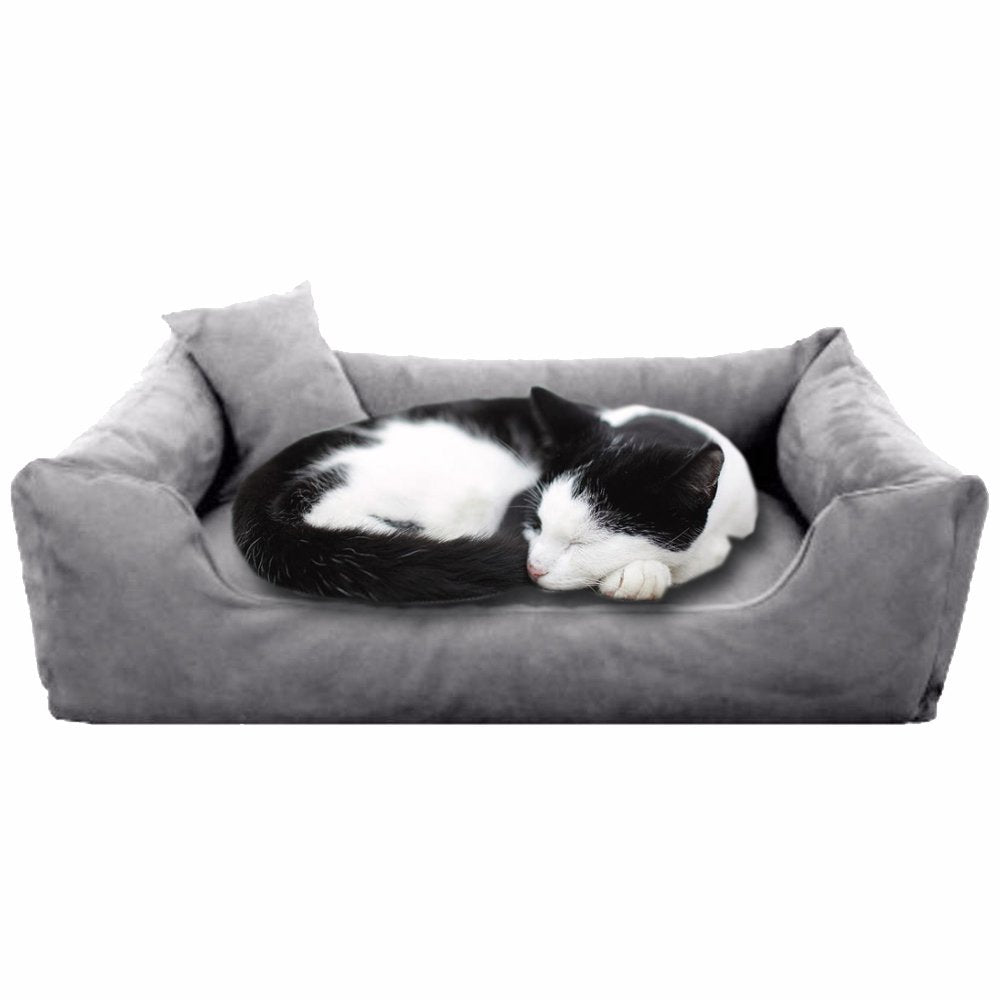 Grey - Pet Royale Velvet Cat Bed