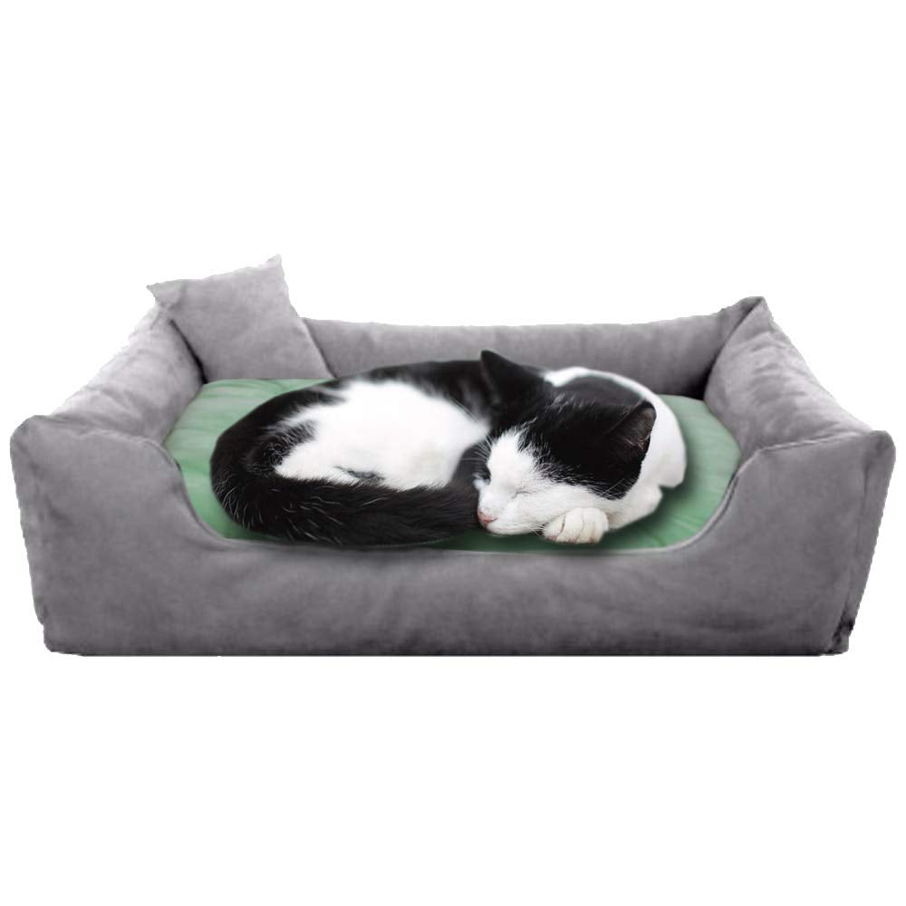 Grey Green - Pet Royale Velvet Cat Bed