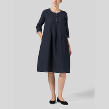 Load image into Gallery viewer, Round Neck Sailor Shirt Style Dress