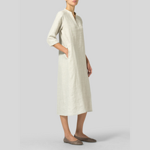 Load image into Gallery viewer, V Neck A line Dress with Pockets